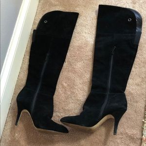 RED Saks Fifth Avenue 9M/39 Suede Heeled Boots
